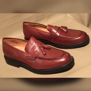 DOCKERS PENNY LEATHER LOAFERS W/TASSELS